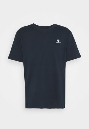 EMBROIDERED STAR LEFT CHEST TEE - T-shirt basic - obsidian