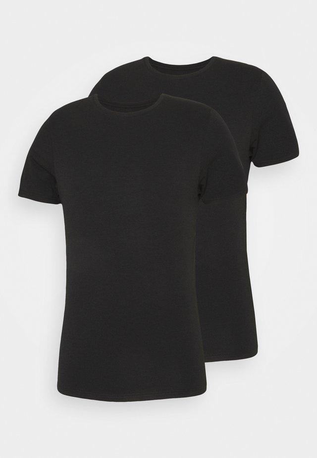 BAMBOO 2 PACK - Maglietta intima - schwarz