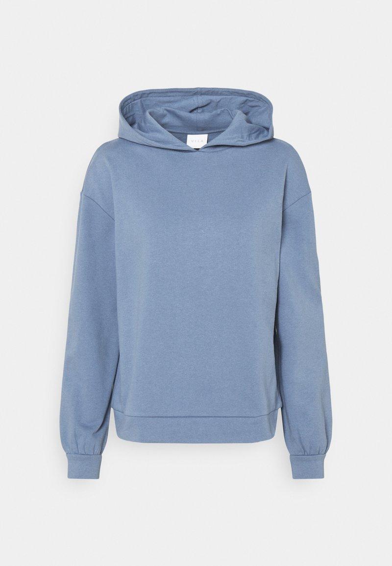 Vila - VIRUST HOODIE - Hoodie - colony blue