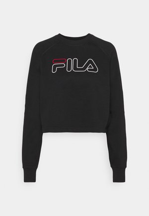 JAMINA CROPPED CREW - Sweatshirt - black