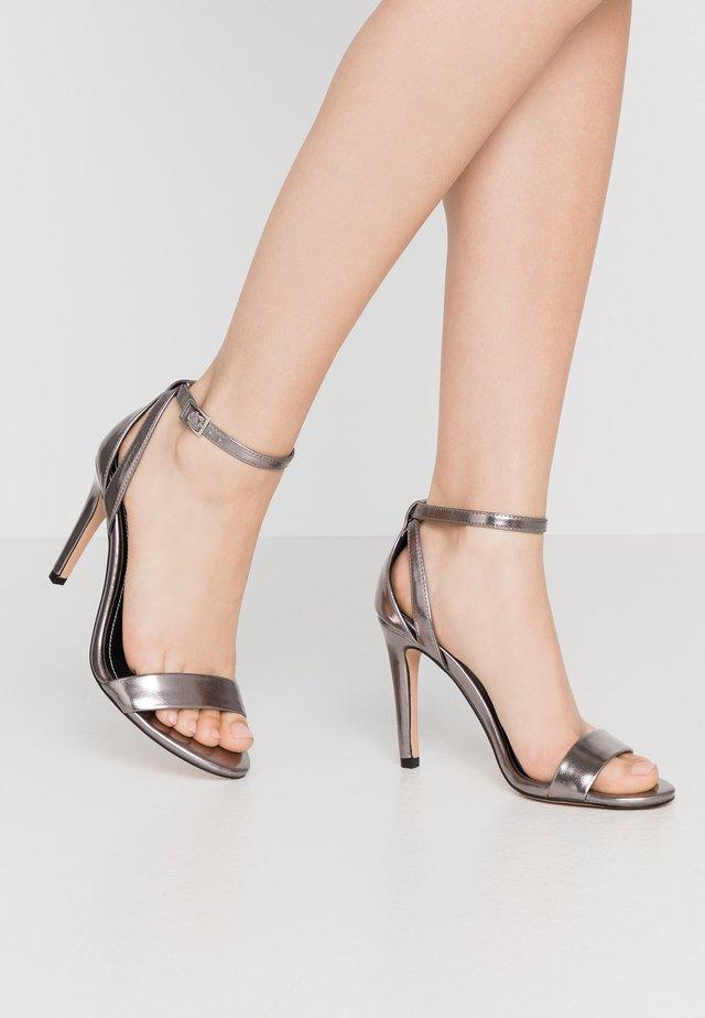 High heeled sandals - gunmetal