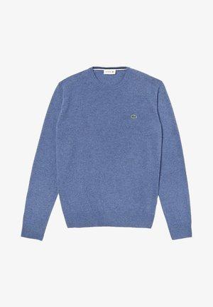 Svetr - heather blue/navy blue/white