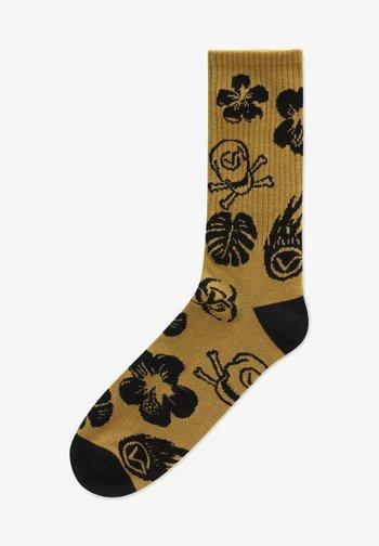 UA BEACH GOTH CREW (6.5-9, 1PK) - Socks - dark aloha