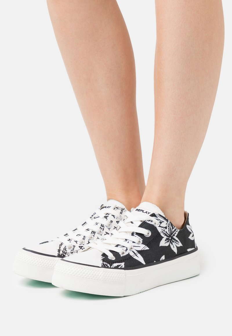Replay - KEMPLEY - Sneakersy niskie - black/white