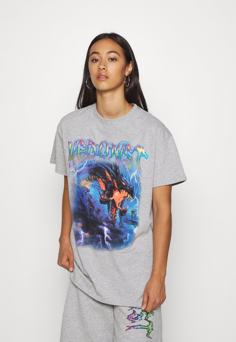 NEW girl ORDER - HEDONIST TEE - T-shirts med print - grey