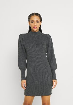 ONLKATIA DRESS - Strikket kjole - dark grey melange