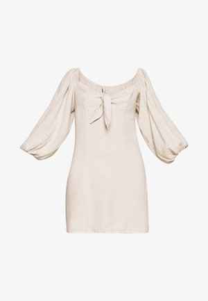 OFF SHOULDER DRESS - Vestito estivo - beige