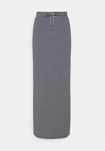 OBJSTEPHANIE - Pencil skirt - white/sky captain