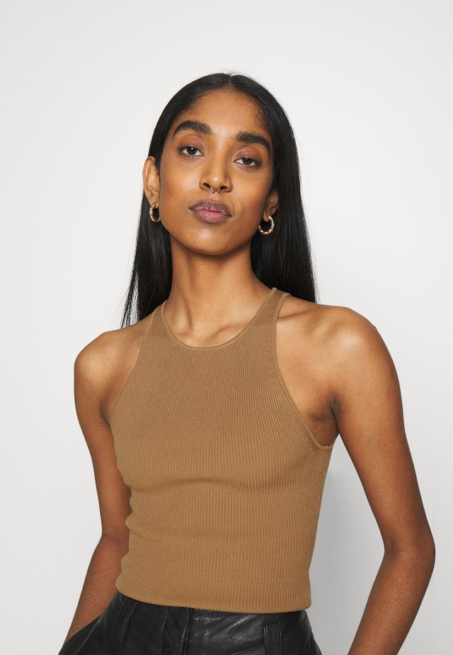 LIA RACER BACK TANK - Top - camel