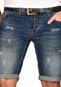 Denim shorts - jeansblau