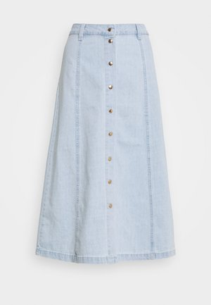 OBJLUCINDA SINYA SKIRT - Spódnica trapezowa - light blue denim