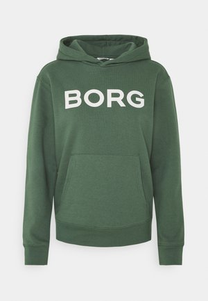 LOGO HOOD - Sweatshirt - duck green