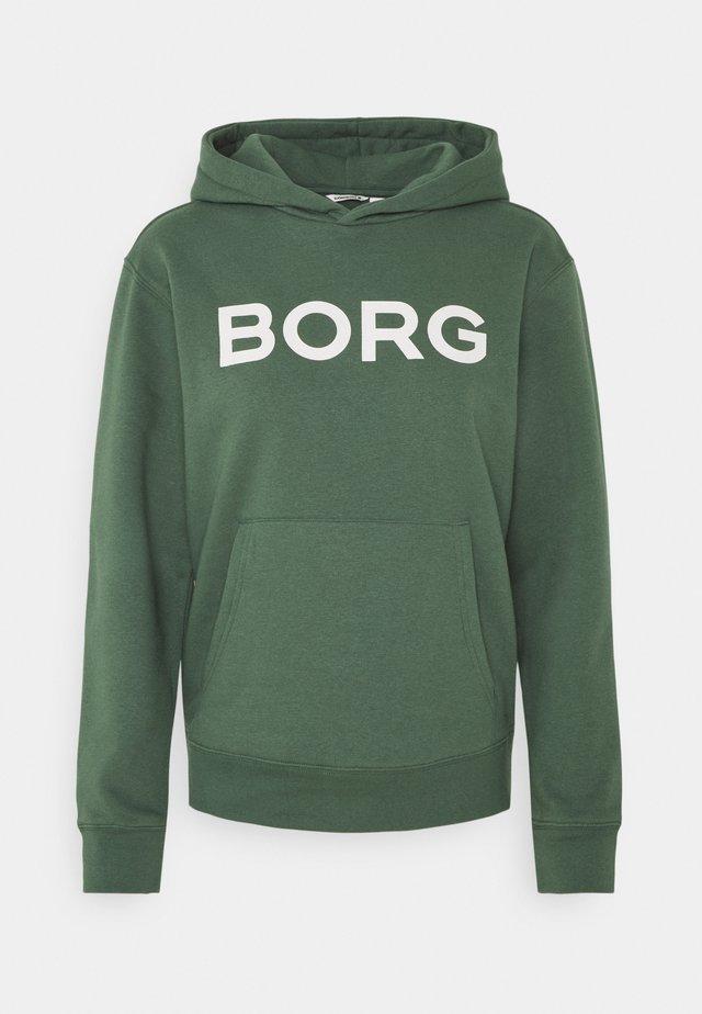 LOGO HOOD - Sweater - duck green