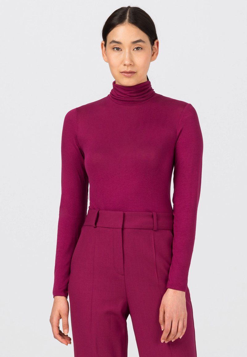 HALLHUBER - Long sleeved top - cassis