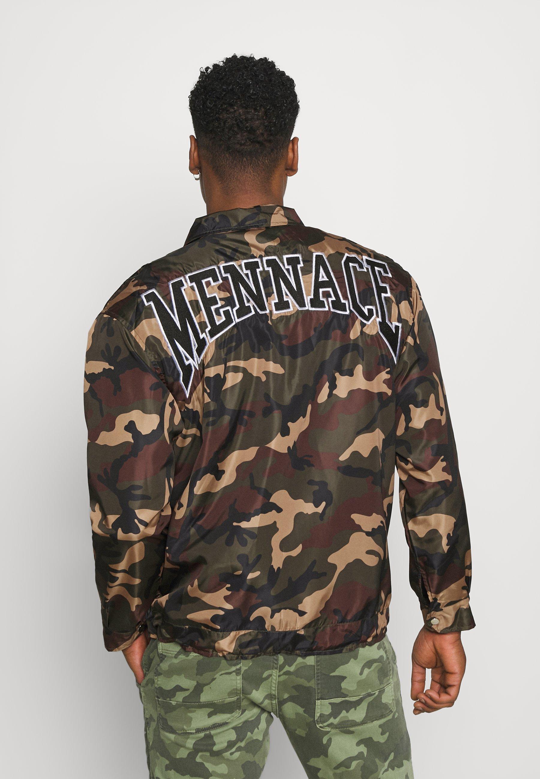 Men CAMO ZIP UP COACH JACKET - Summer jacket