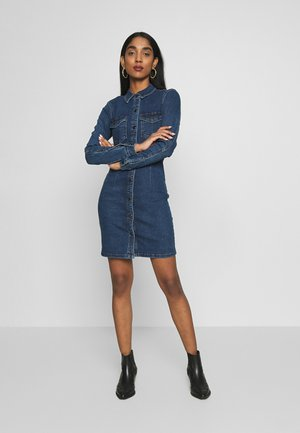 JDYSANNA DRESS - Dongerikjole - medium blue denim