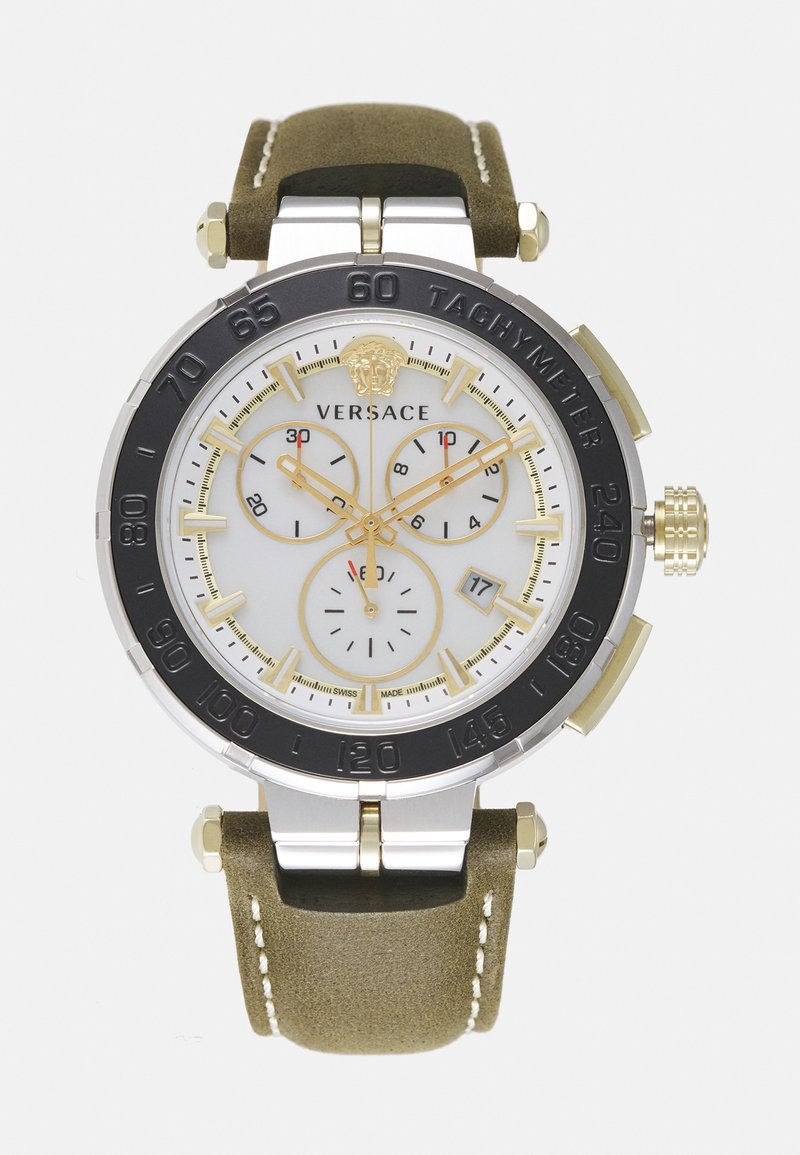 Versace Watches - GRECA - Chronograph watch - green/silver-coloured