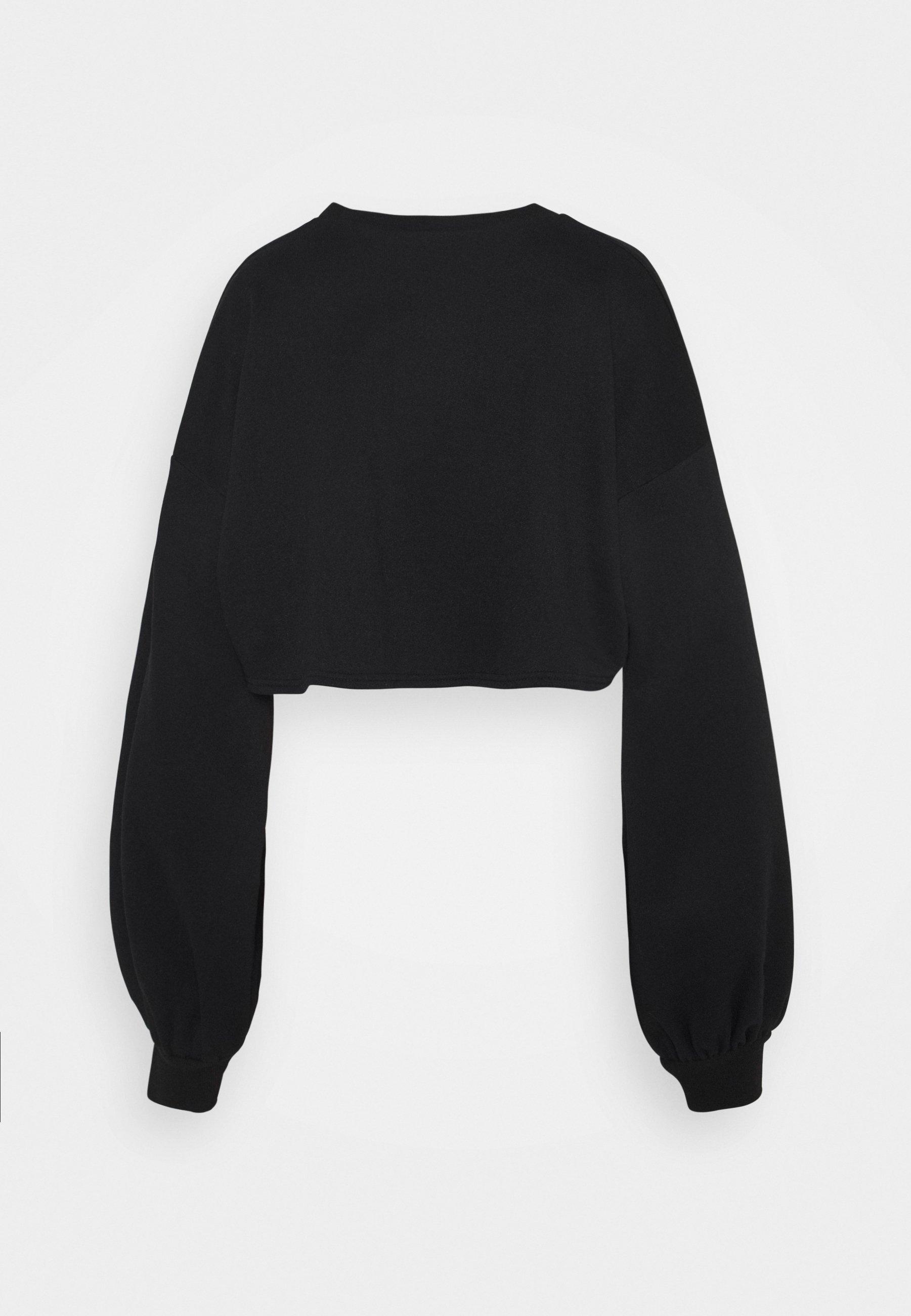 Women BALLOON SLEEVE OVERSIZED CROP - Sweatshirt