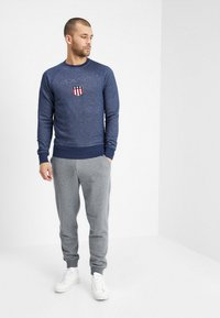 GANT - THE ORIGINAL PANT - Tracksuit bottoms - dark grey melange - 1