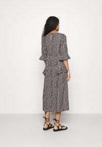 Dorothy Perkins - FRILL WRAP SKIRT MIDI DRESS - Day dress - black - 2