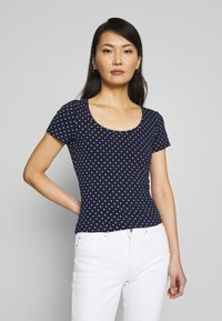 Anna Field - 2ER PACK  - Camiseta estampada - navy/white - 2