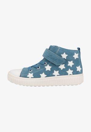High-top trainers - slate blue