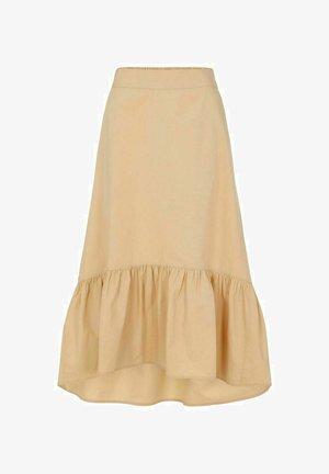 A-line skirt - almond buff