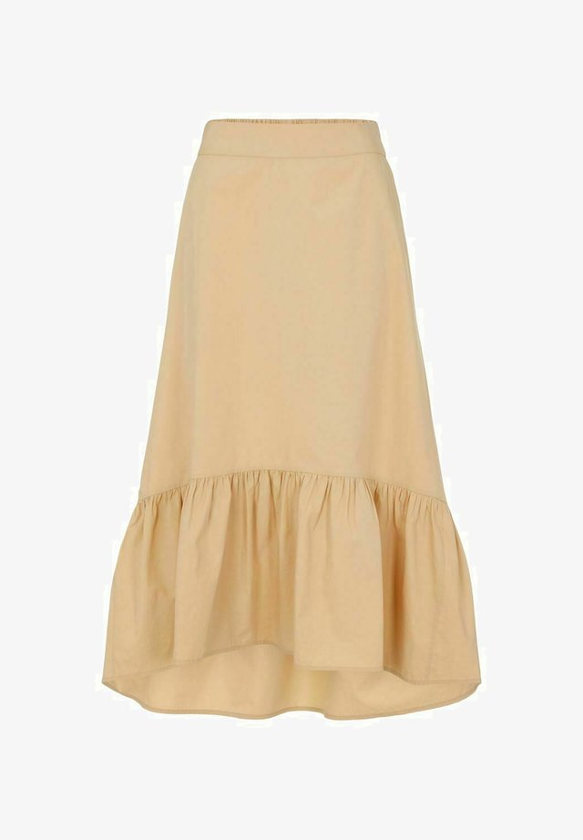 Spódnica trapezowa - almond buff