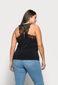 Vero Moda Curve - VMANA LACE TOP CURVE - Print T-shirt - black - 2
