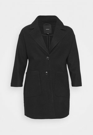 SINGLE BREASTED RELAXED COAT - Classic coat - black