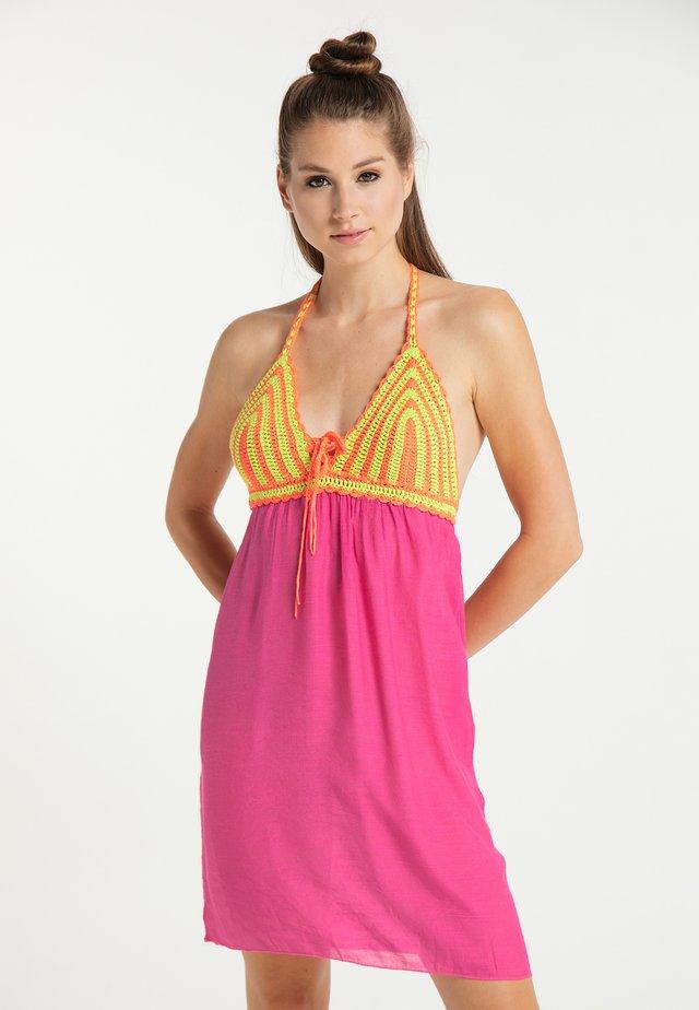 Korte jurk - neon pink