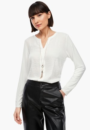 MIT SATIN-FRONT - Long sleeved top - cream