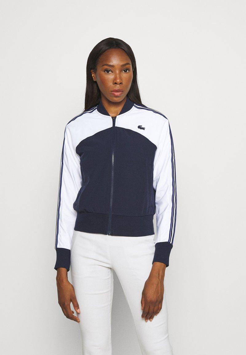 Lacoste Sport - TENNIS - Training jacket - weiß/navy blau