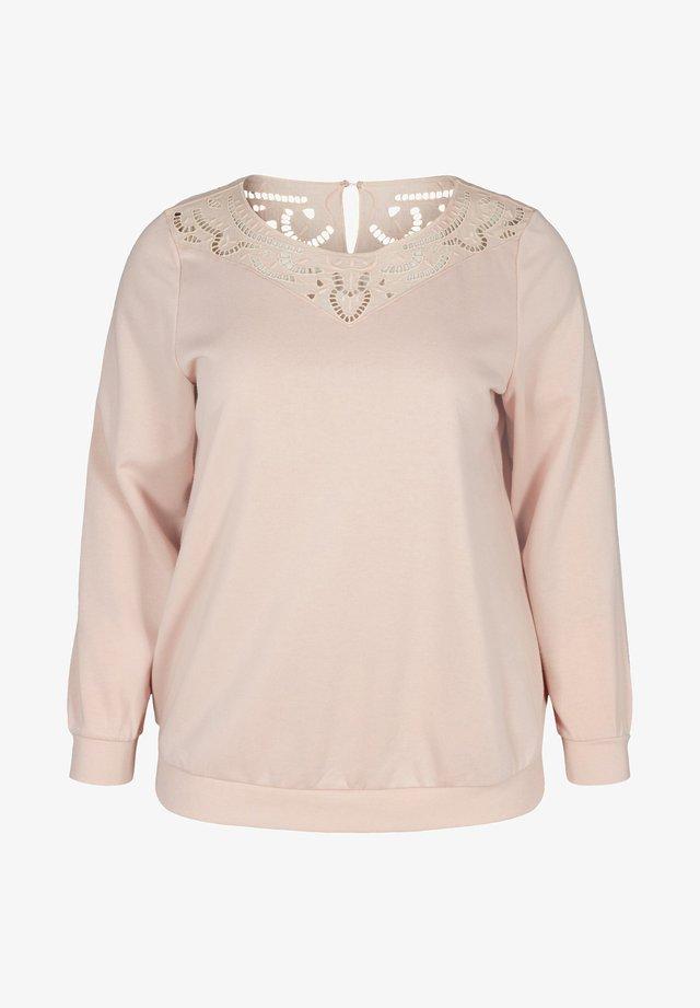 MED BLONDEDETALJER - Sweater - rose