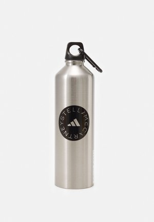 BOTTLE - Drink bottle - matte silver/black
