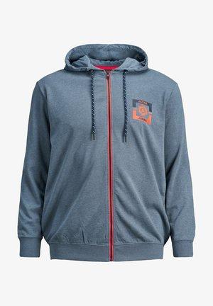 Zip-up hoodie - china blue