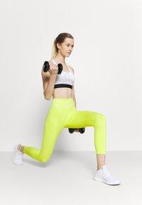 adidas Performance - Medium support sports bra - white/black - 1