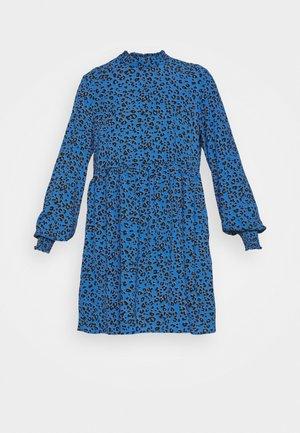 JDYPIPER SHORT DRESS - Day dress - blue iolite/silver mink/black