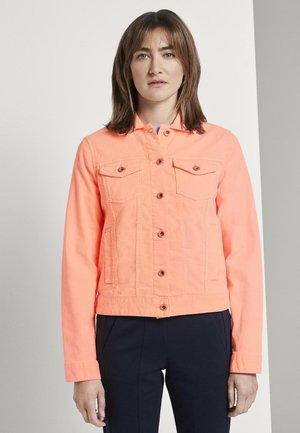 JACKEN & JACKETS JEANSJACKE - Denim jacket - papaya neon orange