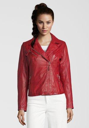 AMANDA - Leather jacket - red