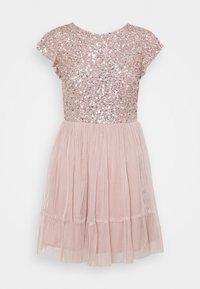 Maya Deluxe - DELICATE SEQUIN RUFFLE SLEEVE MINI DRESS - Sukienka koktajlowa - frosted pink - 0