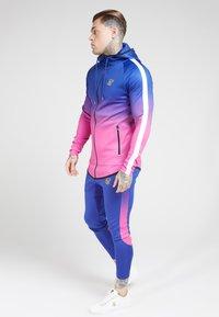 SIKSILK - Zip-up hoodie - blue neon fade - 3