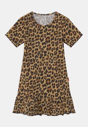 GIRLS ANIMAL PRINT - Jersey dress - brown