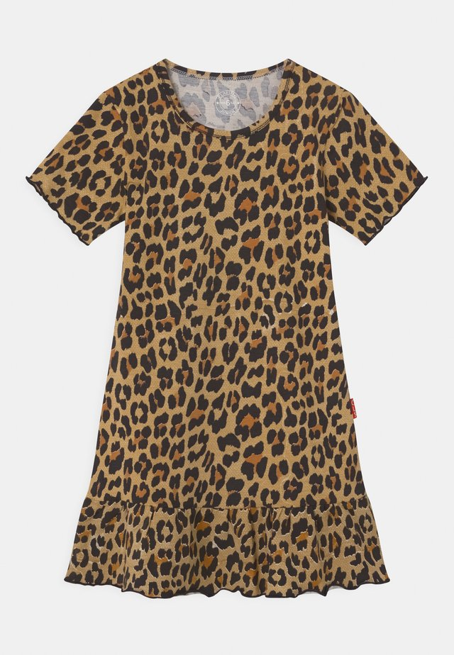 GIRLS ANIMAL PRINT - Jersey dress - brown