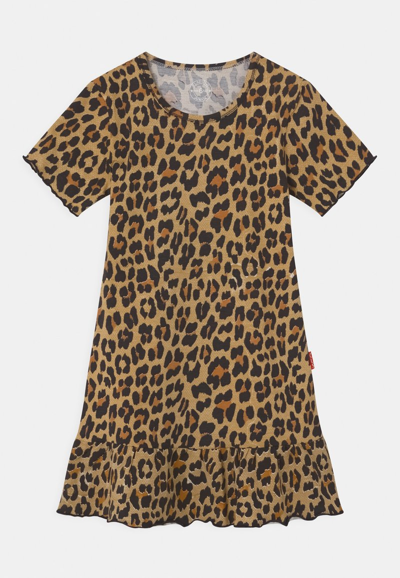 Claesen's - GIRLS ANIMAL PRINT - Jersey dress - brown