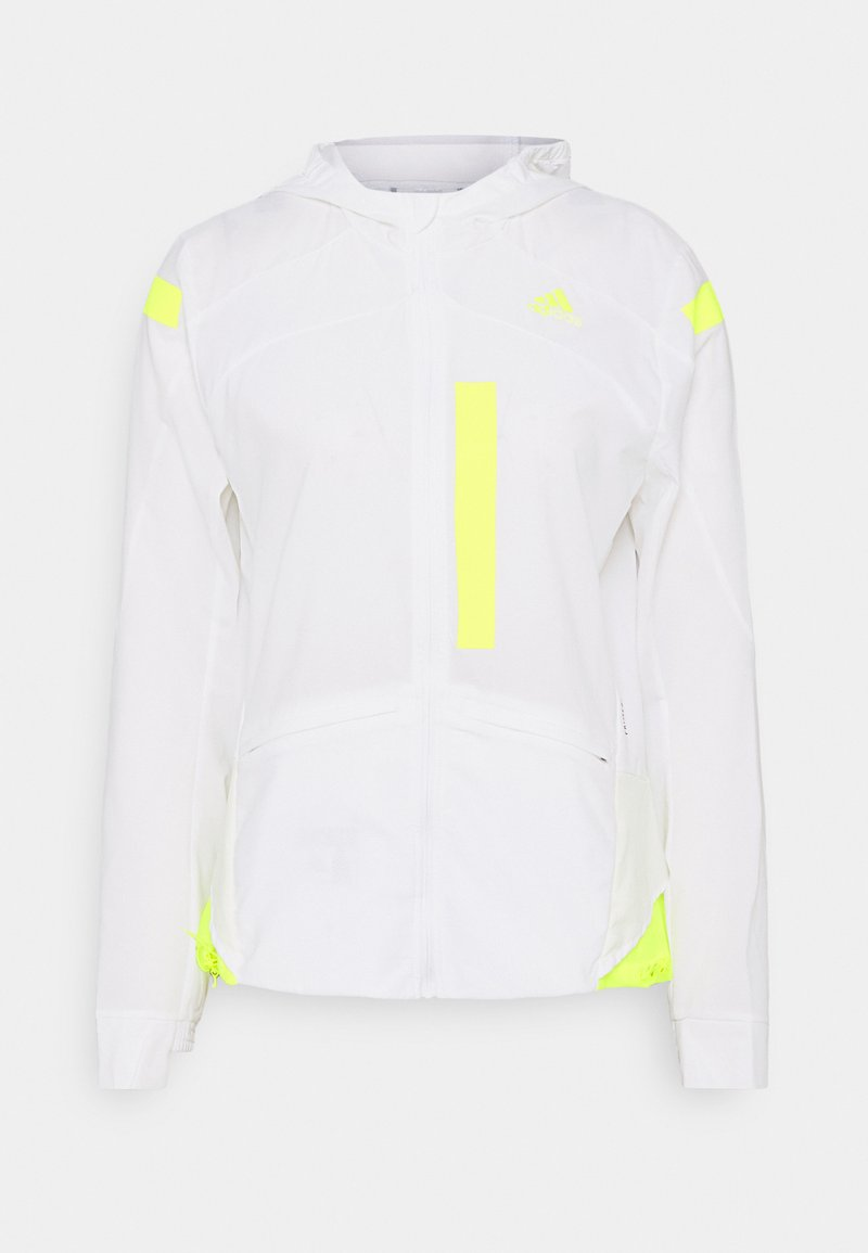 adidas Performance - MARATHON  - Sports jacket - white/syello