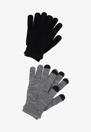 2 PACK - Hansker - black/grey