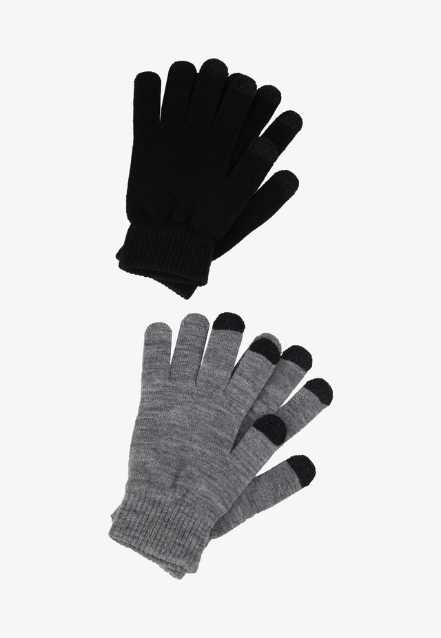 2 PACK - Fingerhandschuh - black/grey