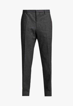 BRUSHED HERRINGBONE - Pantaloni - grey