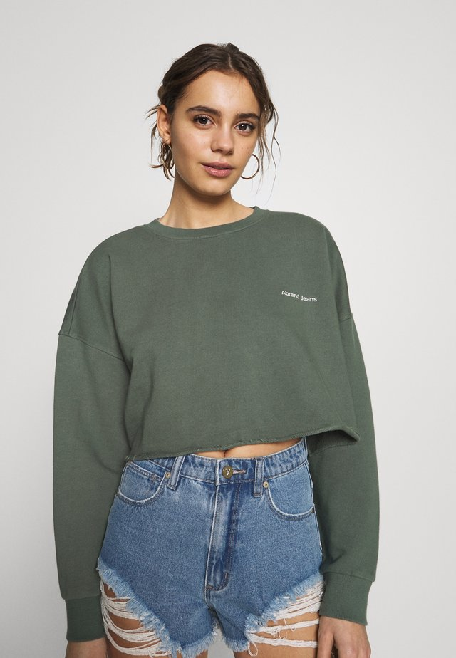 A CROPPED OVERSIZED SWEATER - Sweatshirt - gumnut